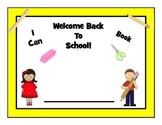 Welcome Back To School! I Can Book!