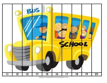 Welcome Back To School Number Order and Skip Counting Puzzles