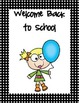 Welcome Back To School Packet with Kids