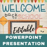 Welcome Back To School PowerPoint Presentation - EDITABLE
