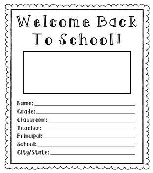 Welcome Back To School [Small Booklet]