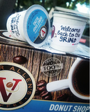 Welcome Back To The Grind K Cup Labels