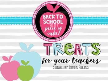 Welcome Back Treats for Teachers- FREEBIE