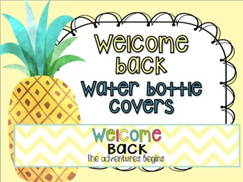 Welcome Back Water Covers (Back So School Night)