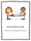 Welcome Back Week