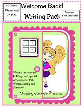 Welcome Back! Writing Pack