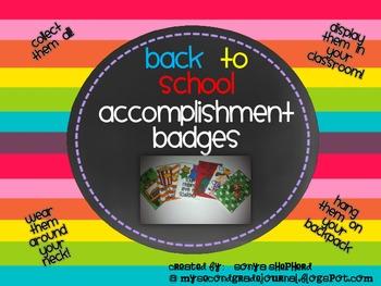 Back to School - accomplishment badges