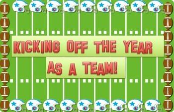 Welcome Back and Goal Setting Bulletin Board Display - Foo