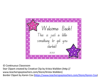 Welcome Back for Support Staff