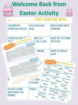 Welcome Back from Easter {No Prep ELA Activities}