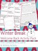 NO PREP Welcome Back from Winter Break Writing Activities