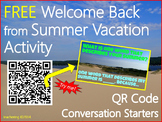 Back to School QR Code Activity {Conversation Starters}