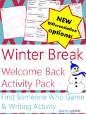 Welcome Back from Winter Break {No Prep ELA Activities}