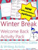 After Winter Break Activities {No Prep ELA Activities to welcome back students}
