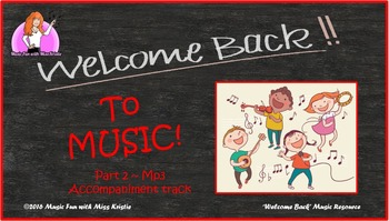 """Welcome Back to Music"" Part 2  (mp3 music tracks)"