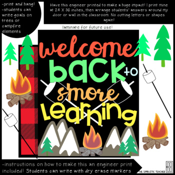 Welcome Back to S'more Learning Bulletin Board or Poster
