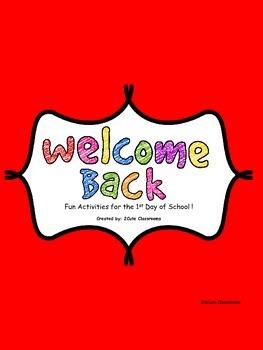 Welcome Back to School Activities