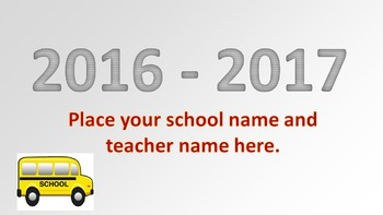 Welcome Back to School Animated Slides