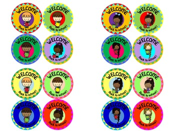 Welcome Back to School! Badges and Stickers