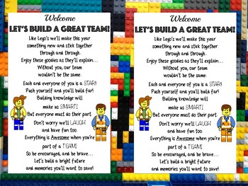 Welcome Back to School Bags: Lego Like Theme!