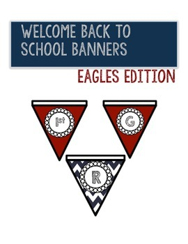 *FREEBIE* Welcome Back to School Banner: Eagle Edition