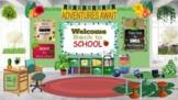 Welcome Back to School Bitmoji Classroom Template Plant Room w/Activities!
