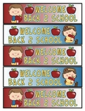 Welcome Back to School Bookmarks