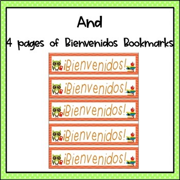 Welcome Back to School Bookmarks English & Spanish