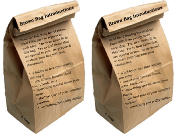Welcome Back to School - Brown Bag Introductions