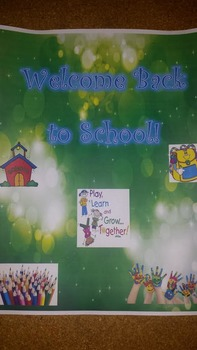 Welcome Back to School! Bulletin Board