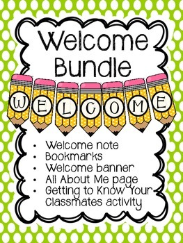 Welcome Back to School Bundle