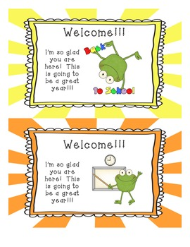 Pleasant Welcome Back To School Cards Froggies By Tracy Pirozzoli Tpt Funny Birthday Cards Online Fluifree Goldxyz