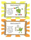 Welcome Back to School Cards!  Froggies!!