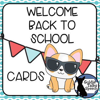 Cool Welcome Back To School Cards By Goldietalks Speech Tpt Funny Birthday Cards Online Fluifree Goldxyz