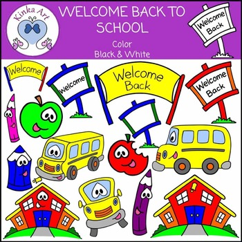 Welcome Back to School Clip Art