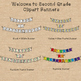 Welcome Back to School Clipart Banners For Grades K, 1, & 2