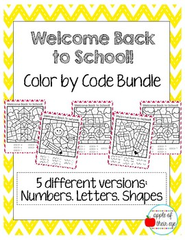 Welcome Back to School: Color by Code!