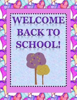 Welcome Back to School Door sign