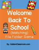 Welcome Back to School File Matching Folder Game