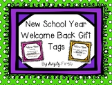 Welcome Back to School Gift Tags