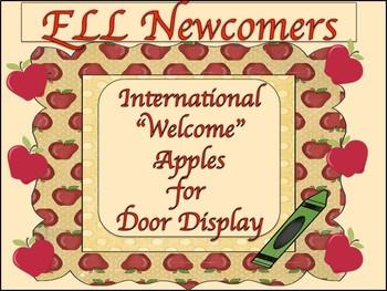 Welcome Back to School International Door Display Apples
