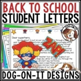 Welcome Back to School Letters Editable Template Activitie