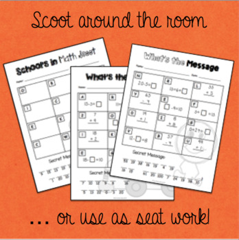 Welcome Back to School Math Scavenger Hunt Scoot  - Grade 1