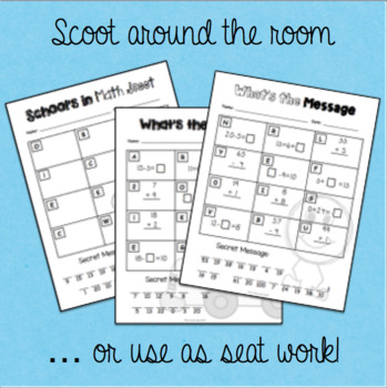 Welcome Back to School Math Scavenger Hunt - Grade 2