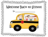 Welcome Back to School Math and Literacy Pack