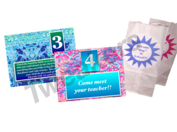 Welcome Back to School Meet the Teacher Night Lilly Pulitzer Inspired EDITABLE!!