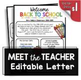 Welcome Back to School Newsletter - Editable - Open House - Meet the Teacher