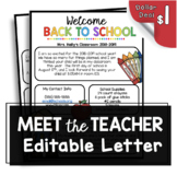 Welcome Back to School Newsletter - Editable - Open House