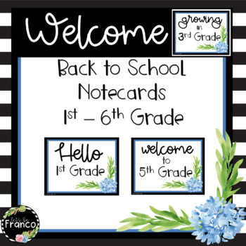 Welcome Back to School Notes for Students