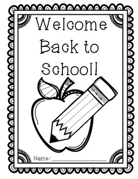 Welcome Back to School Packet